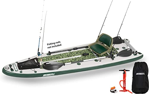 Sea Eagle FishSUP 126 Inflatable FishSUP – Swivel Seat Fishing Rig Package