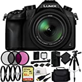 Panasonic Lumix DMC-FZ1000 4K QFHD/HD 16X Long Zoom Digital Camera (Black) + 32GB BUndle 21PC Accessory Kit. Includes SanDisk Extreme 32GB UHS-I/U3 SDHC Memory Card (SDSDXN-032G-G46) + 2 Extended Life Replacement Batteries + Charger + 3 Piece Filter Kit (UV-CPL-FLD) + 4 Piece Macro Filter Set (+1,+2,+4,+10) + LED Video Light Kit + Full Size Tripod + Carrying Case + Micro HDMI Cable + Microfiber Cleaning Cloth