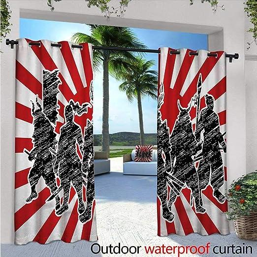 Cortinas japonesas para patio, grupo de Samurai Ninja ...
