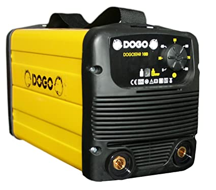 Dogo 66072 soldadora Inverter para electrodos 80 Amp, Amarillo