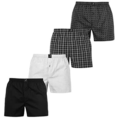 b2303c9f4fb0ec Kangol Mens Woven Boxer Shorts 4 Pack at Amazon Men's Clothing store: