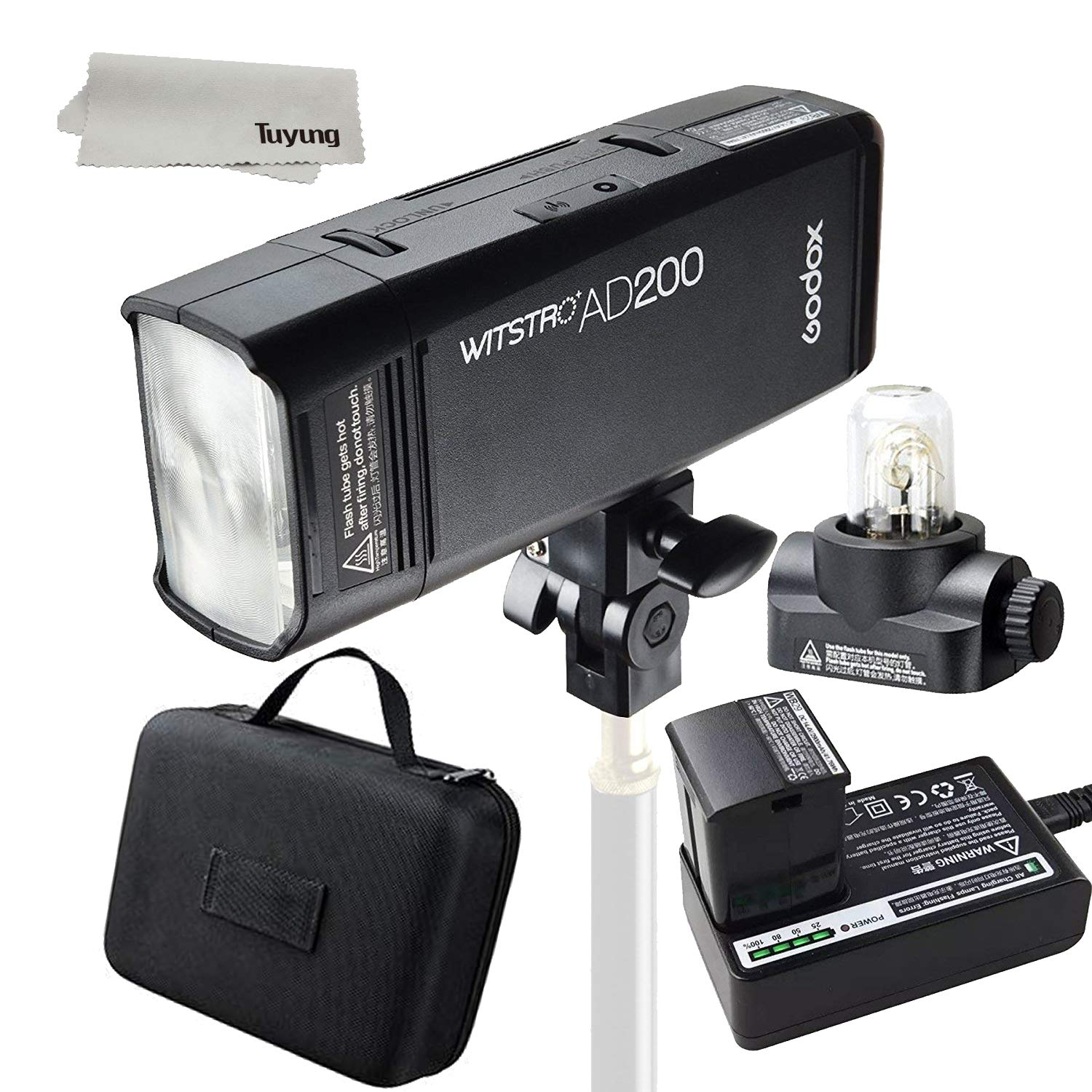 GODOX AD200 has 200Ws GN 60 High Speed Sync Flash Strobe Built-in 2.4G Wireless X System to Achieve TTL 2900mAh Battery to Provide 500 Full Power Flashes Recycle in 0.01-2.1 Second by Godox