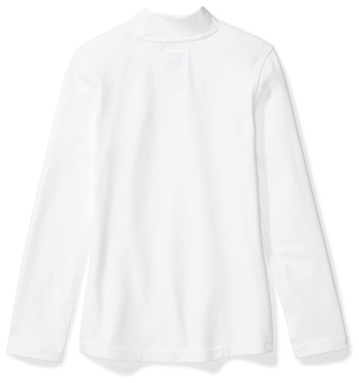 Exclusive Starter Girls Long Sleeve Mock Neck Athletic Light-Compression T-Shirt