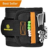 Swimmaxt Magnetic Wristband with Strong Magnets for Holding Screws, Nails, Drill Bits (New)
