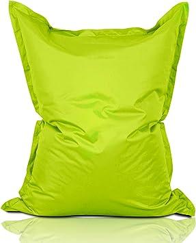 Imagen deLumaland PUF otomano Puff XXL 140 x 180 cm 380l con Relleno Innovador Maxi Puff Interior Exterior Verde Manzana