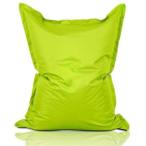 Lumaland PUF otomano Puff XXL 140 x 180 cm 380l con Relleno Innovador Maxi Puff Interior Exterior Verde Manzana