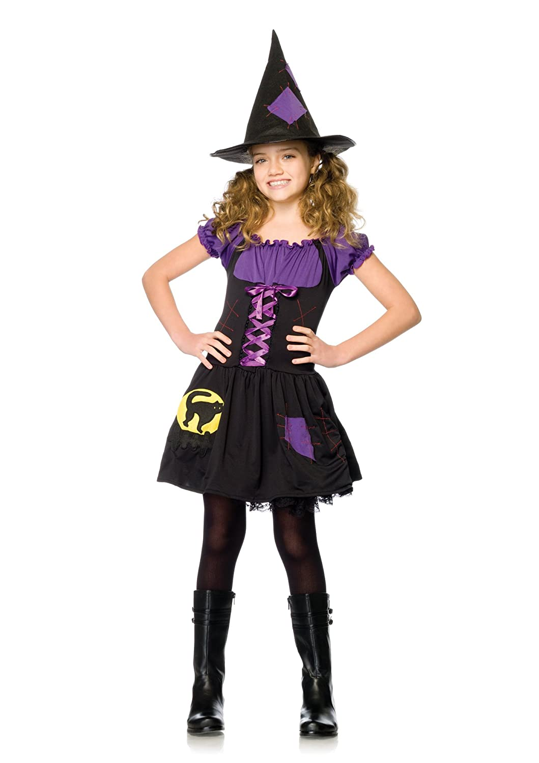Amazon.com: Black Cat Witch Child's Costume - Large: Toys & Games