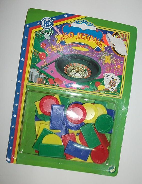 Juegos de mesa fichas 50 pcs diferentes coloures + moldes para ruleta, Poker etc.: Amazon.es: Juguetes y juegos