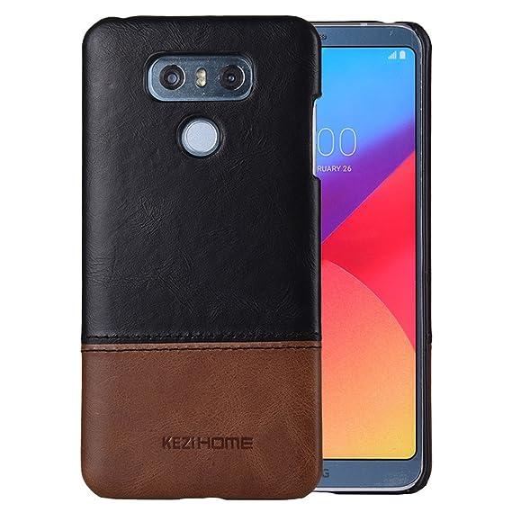 innovative design 3f2f0 6ac9e LG G6 Case,LG G6 Plus 2017 Case,Two Colors Vintage Genuine Leather Back  Cover for LG G6 (Black)