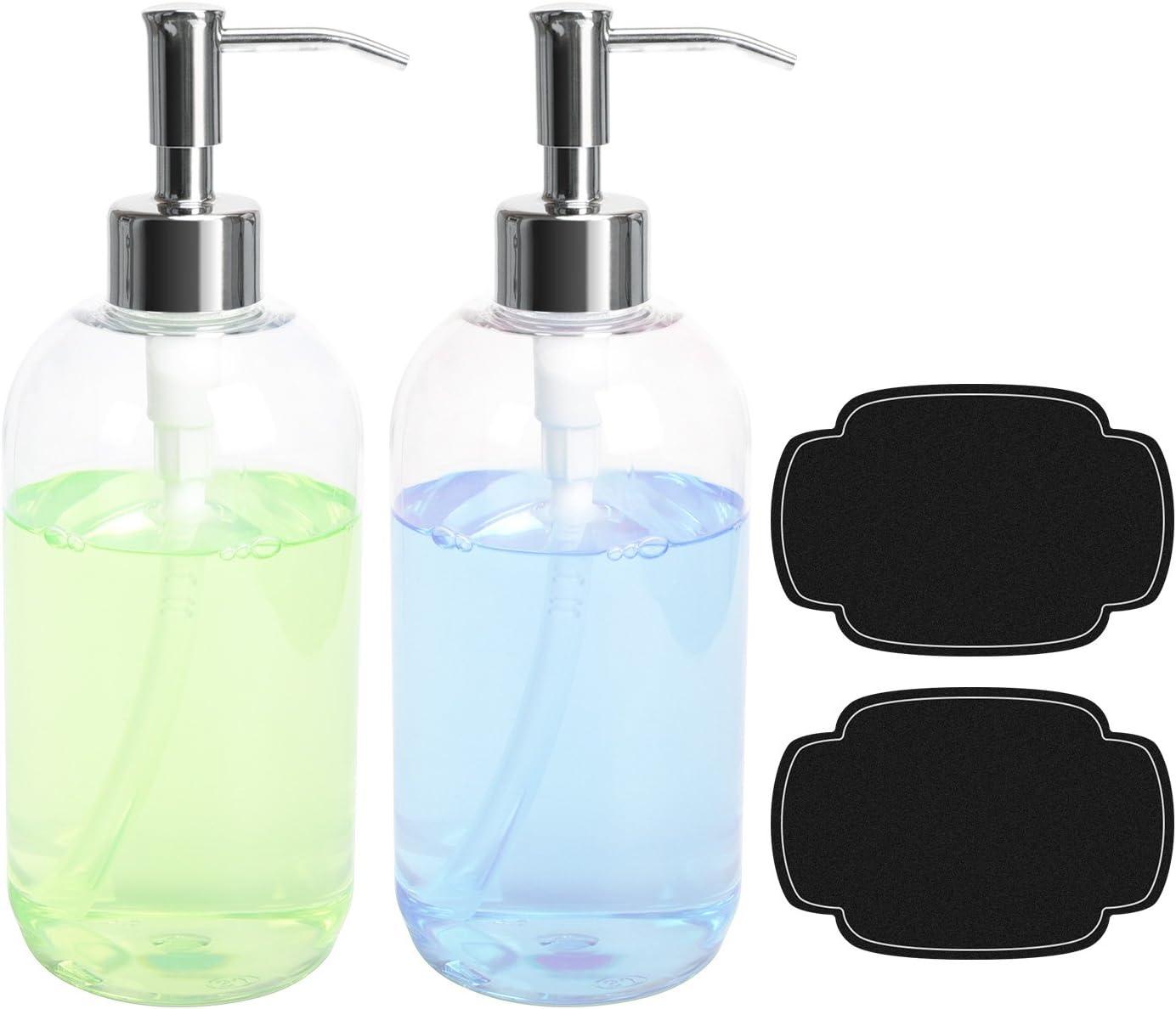Amazon Com Ulg Soap Dispensers Bottles 16oz Countertop Lotion