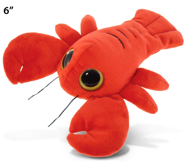 "B0092J67XE Puzzled Big Eye Lobster Plush, 6"" 71uwX1CO1hL"