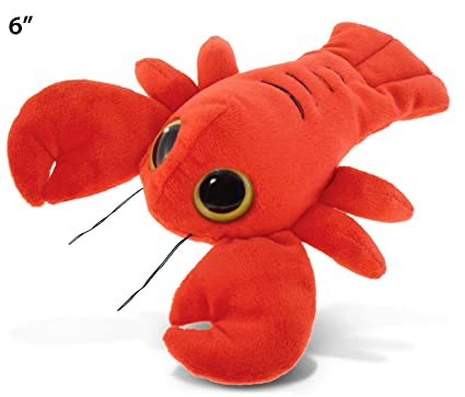 Amazon Com Puzzled Big Eye Lobster Plush 6 Toys Games