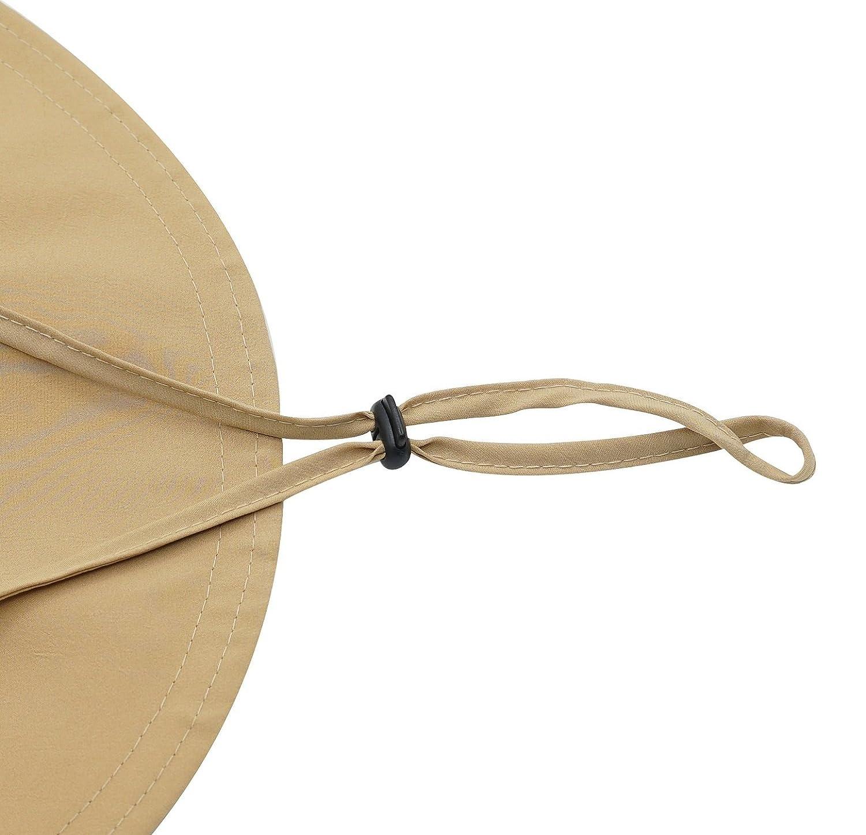 4ff01c552bfb4 Connectyle Mens Outdoor Mesh Boonie Sun Hat Wide Brim UV Protection Fishing  Hat F0189-KK