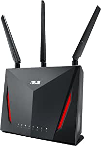ASUS RT-AC86U Wi-Fi AC2900(AI Mesh USB 3.0 Router, AiProtection by Trend Micro, AI Mesh, WTFast Game Accelerator Adaptive QoS, Dual-WAN 3G/4G Support)