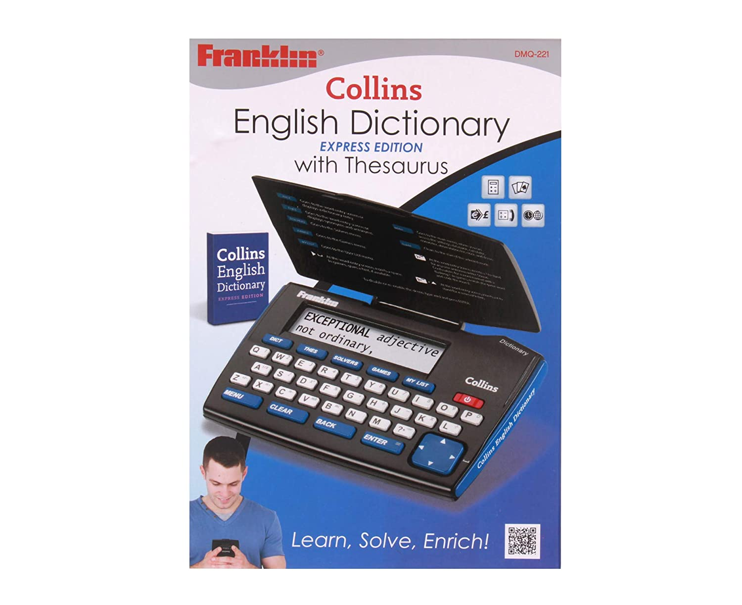 Franklin DMQ221 Collins English Dictionary with Thesaurus OfficeCentre DMQ-221