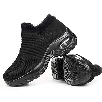 Women's Walking Shoes Sock Sneakers - Mesh Slip On Air Cushion Lady Girls Modern Jazz Dance Easy Shoes Platform Loafers | Walking