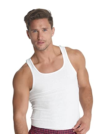 8e010eb82cb623 Hanes Men s Traditional Fit ComfortSoft Ribbed A-Shirt 2X-4X 3-Pack at  Amazon Men s Clothing store