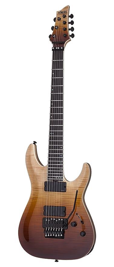 Schecter solid-body 1356 (7 cuerdas para guitarra eléctrica, diseño vintage, color