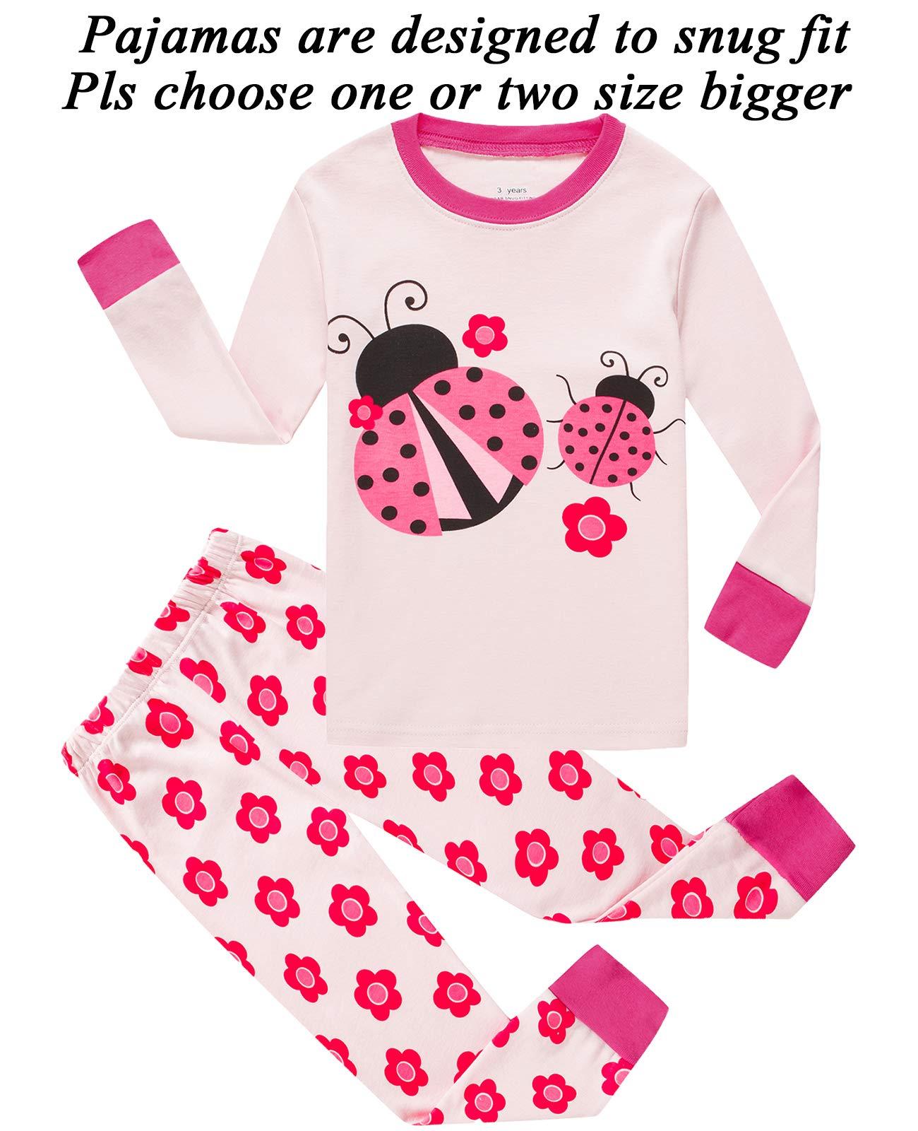 Huata Boys Girls Pajamas Set Sleepwears 2 Piece 100/% Cotton