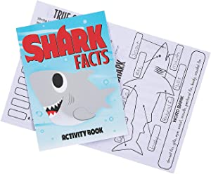Fun Express Shark Facts Activity Books Party Favors - 12 Pieces