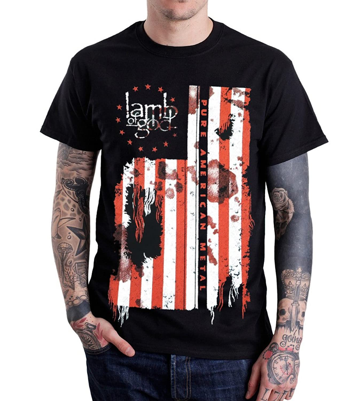Rockstar Lamb Of God Pure American Metal Flag T-Shirt Black   Amazon.com for Lamb Of God Pure American Metal Flag  289ifm