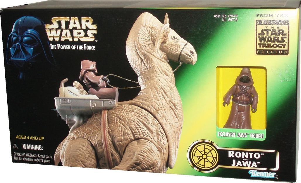 Ronto and Exclusive Jawa Figure with Blaster Pistol Star Wars 1997 The Power of the Force Action Figures Playset