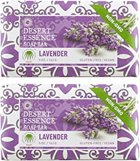 product image for Desert Essence Lavender Soap Bar With Tea Tree Oil and Lavender Oil, Gluten-Free/ Vegan, 5 oz. (Pack of 2)