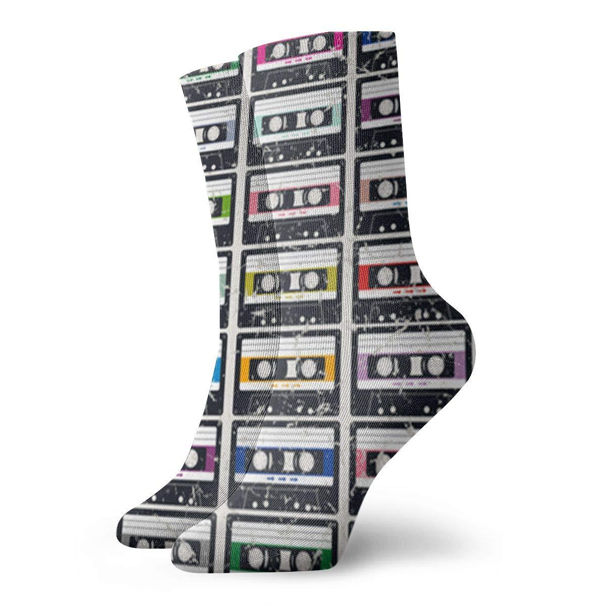 Color Cassette Unisex Funny Casual Crew Socks Athletic Socks For Boys Girls Kids Teenagers