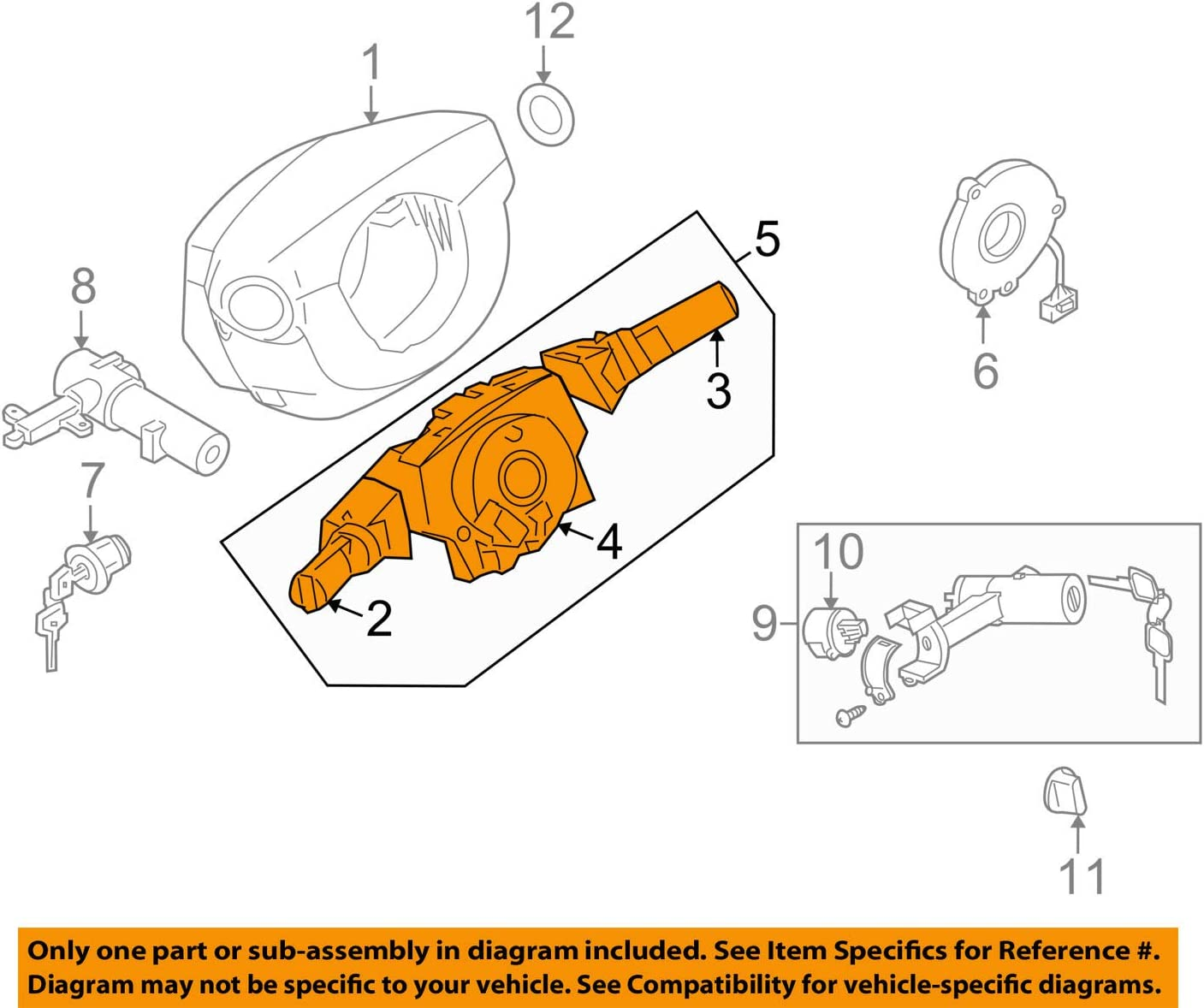 25560-9CH5A Switch Assy-Comb Genuine Nissan Parts