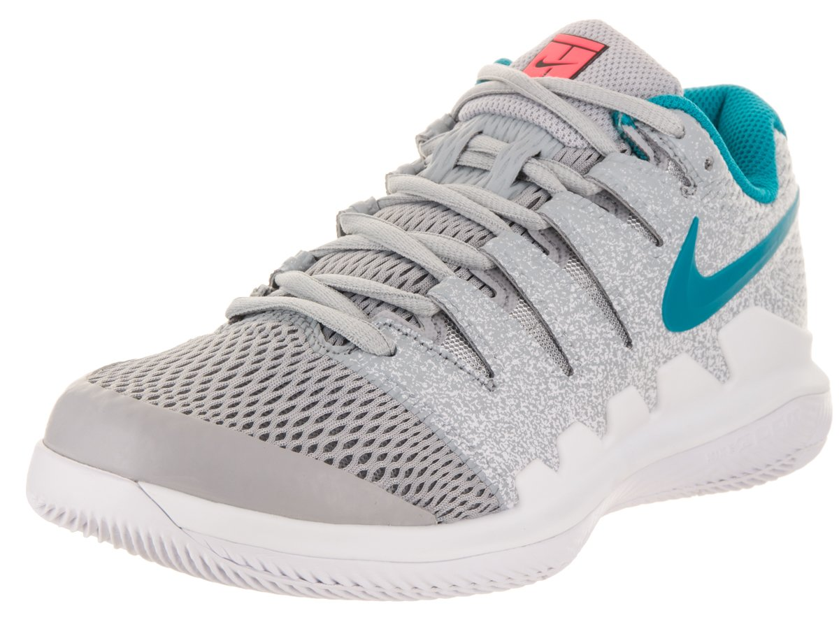 NIKE Women's Air Zoom Vapor X HC Tennis Shoes B0761YSKB3 6 B(M) US|Wolf Grey/Blue Nebula/Hot Lava/White