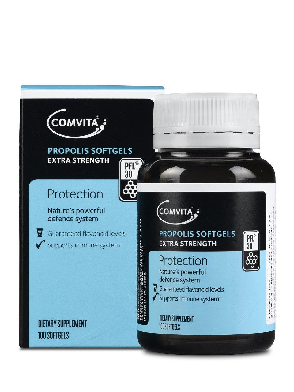 Comvita Propolis Soft Gel Capsules PFLTM 30, 100ct I Natural Immune Support