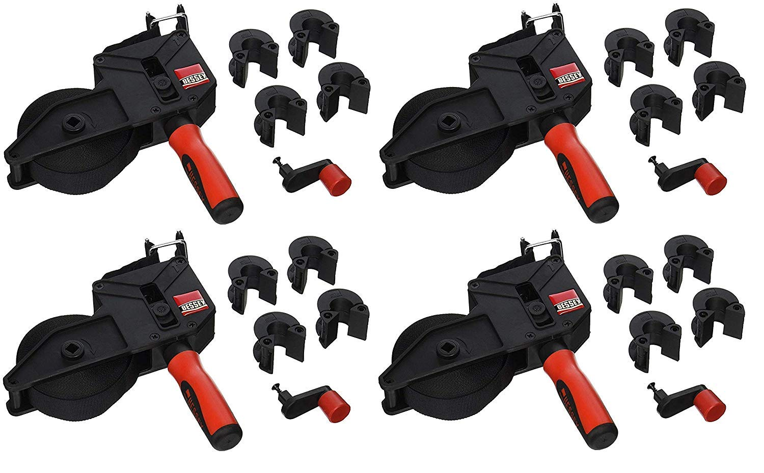 Bessey VAS-23+2K Vario Angle Strap Clamp (Pack of 4) by Bessey (Image #1)