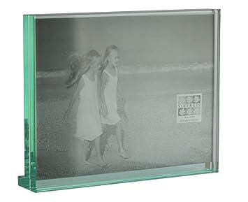 level heavy glass photo frame 8 x 6inch amazon co uk kitchen home