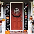 CandyHome Halloween Decorations Outdoor, Trick or Treat Banner Happy Halloween Sign for Front Door or Indoor Home Decor, Halloween Banner Outdoor Porch Decorations Welcome Signs