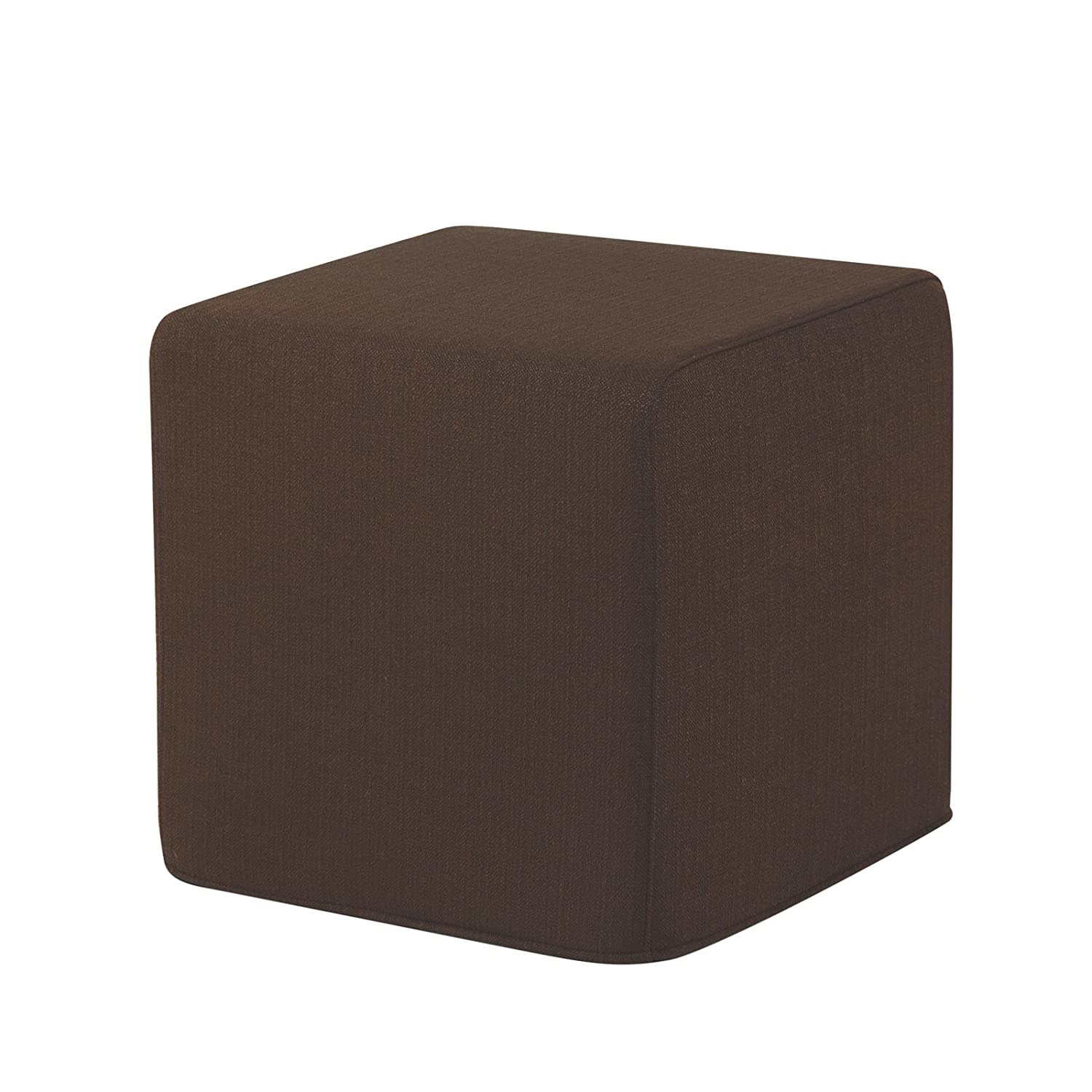 EXTROITALY Dado Pouf Puff POUFF Puff Ecopelle Beige Lavabile Mis. 40X40X40 Peso kg.4 CAB