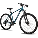 Hiland 29 Inch Aluminum Mountain Bike 17/19 inch Frame Hydraulic Disc-Brake 16 Speed with Lock-Out Suspension Fork
