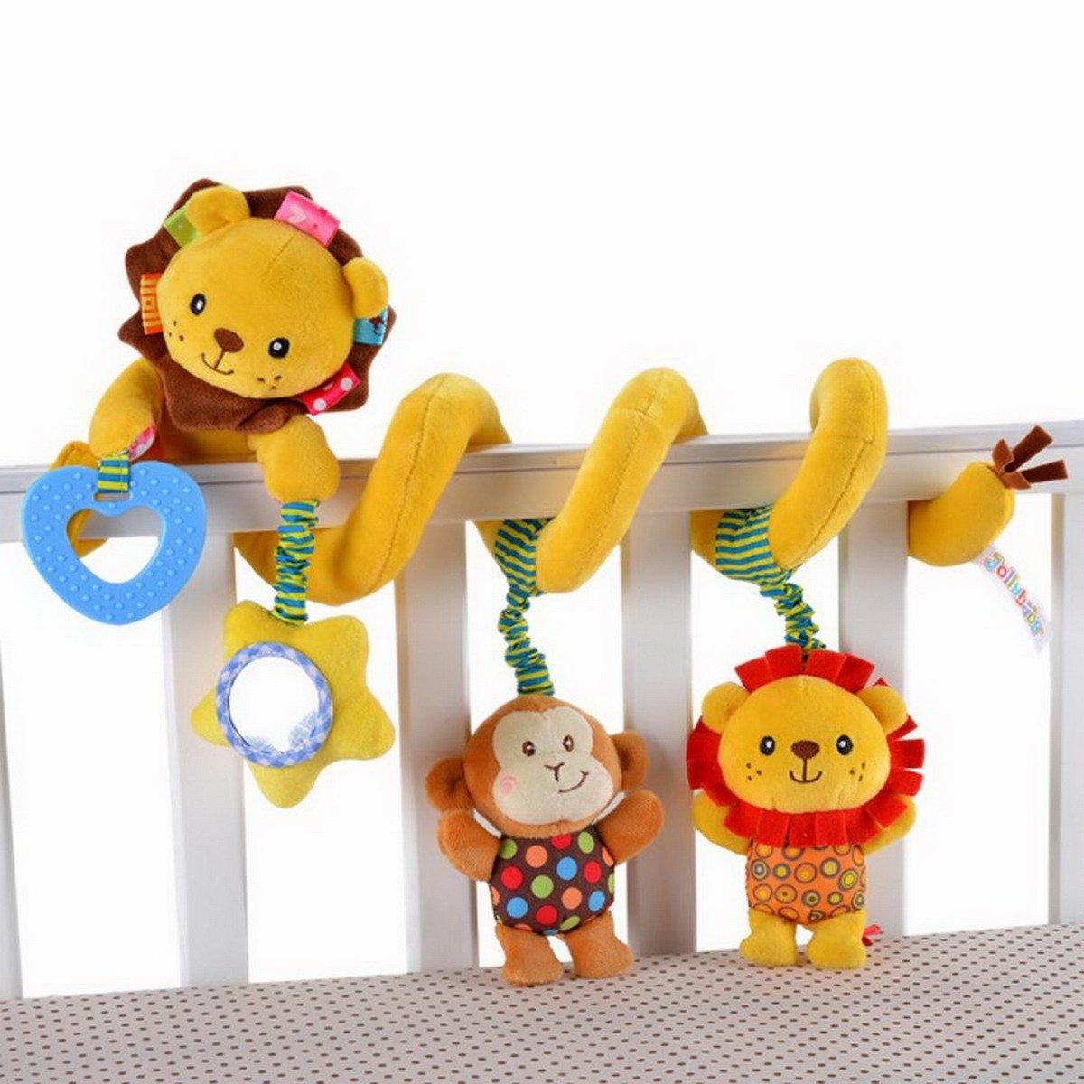 Bébé Spirale Peluche Activité d'Eveil Hanging Jouet pour Poussette Voiture Lit AHA