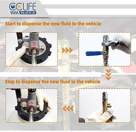 Cclife 7 5l Atf Getriebeöl Einfüllgerät Mit 15 Adapter Befüllgerät Öleinfüllgerät Ölwechsel Gerät Dsg Cvt Auto