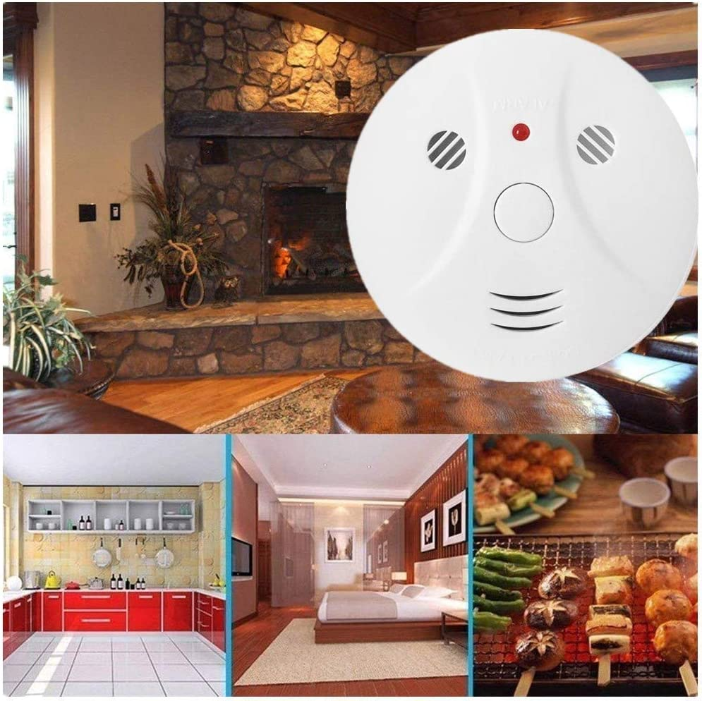 Travel Portable Photoelectric Fire/&Co Alarm for Home 3 Pack Combination Smoke and Carbon Monoxide Detector Battery Operated
