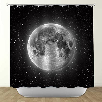 Amazon Uphome Astronomy Full Moon Space Custom Bathroom Shower