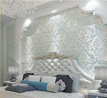 Fesselnd Hu0026M Tapete Dicker Damastart 3D Relief Vlies Dekoration Wohnzimmer  Restaurant TV Wand Schlafzimmer Tapete  53cm