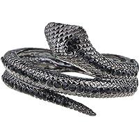 Alilang - Pulsera para mujer, color negro y diamantes de imitación