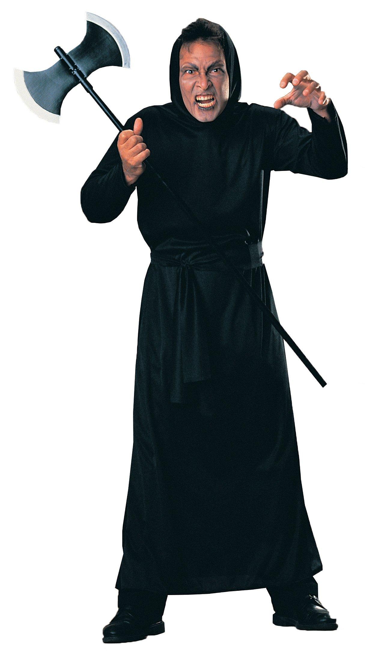 Rubie's Costume Haunted House Horror Black Hooded Robe, Black, Standard Costume