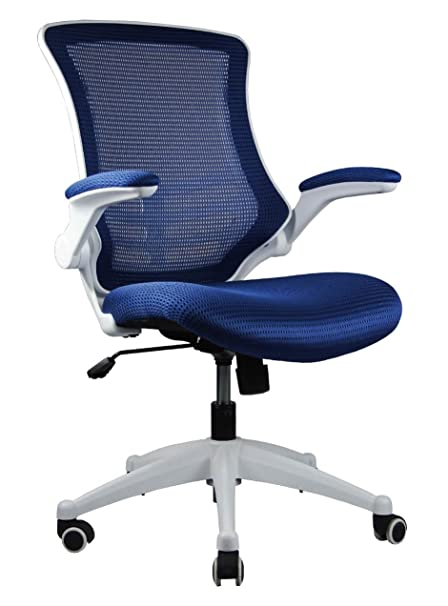 Amazon.com Manhattan Comfort Lenox Collection Mesh Back Height Adjustable Comfortable Office Desk Chair Set of 2 Royal Blue Kitchen u0026 Dining  sc 1 st  Amazon.com & Amazon.com: Manhattan Comfort Lenox Collection Mesh Back Height ...