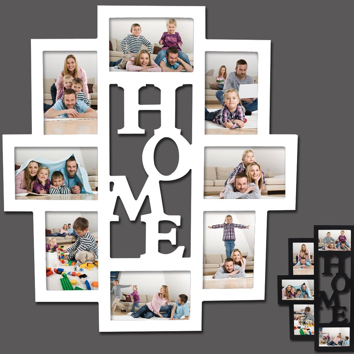 Amazon.de: EUGAD 8 Fotos Collage Bilderrahmen #9, 3D Holz Rahmen ...