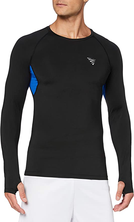 Herren Funktionsunterwäsche Kompression Langarm T-shirt Gym Baselayer Trainieren