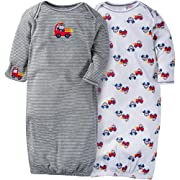 Gerber Unisex Baby 2 Pack Gown (0-6, Fire Truck)