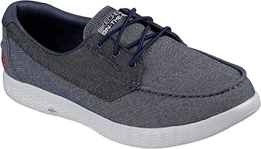 TALLA 45 EU. Skechers Mens On The Go Glide Coastline Cushioned Casual Boat Shoes