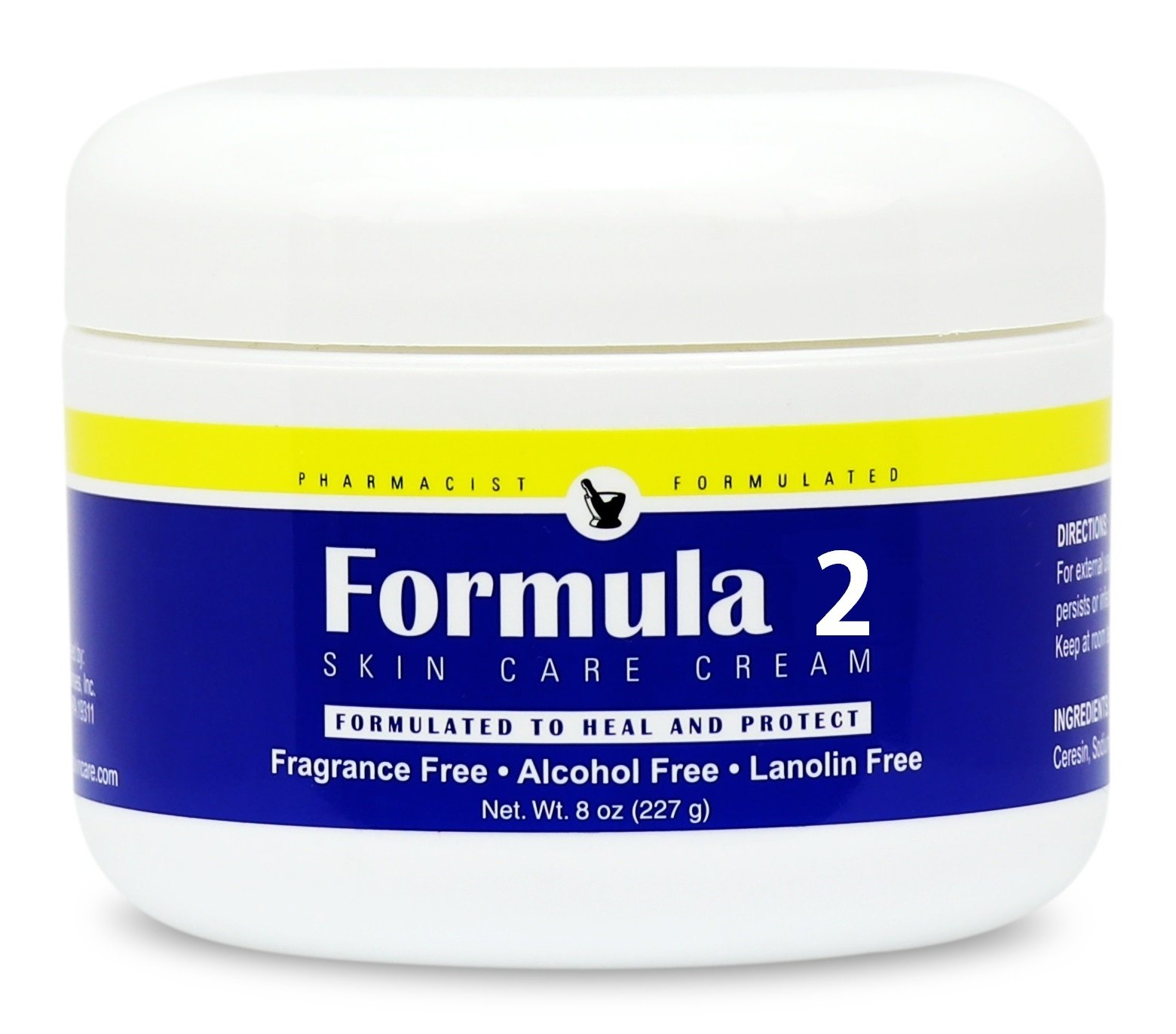 Formula 2 Skin Care Cream | For Very Dry Skin Resulting From Diabetic Dry Skin, Eczema, Psoriasis, Dermatitis, Rashes, Burns. For hands, feet, buttocks, and all over. Pharmacist Formulated. by Formula 2 Skin Care