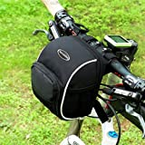 Tancendes Bicycle Cycling MTB Bike Basket Front Frame Tube Handlebar Bag With Rain Cover